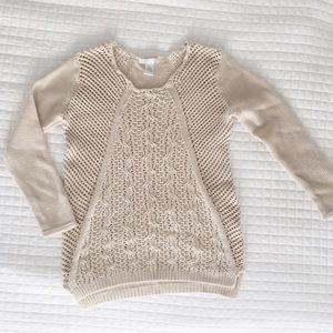 Design History Open Knit Sweater